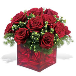 Şırnak çiçek satışı  9 adet kirmizi gül cam yada mika vazoda