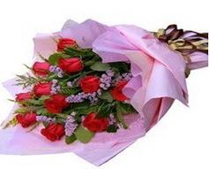 11 adet kirmizi güllerden görsel buket  Şırnak çiçekçi telefonları
