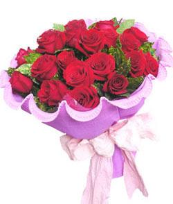 12 adet kırmızı gülden görsel buket  Şırnak çiçekçiler
