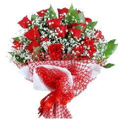 11 kırmızı gülden buket  Şırnak çiçek online çiçek siparişi