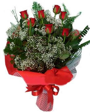 7 kırmızı gül buketi  Şırnak güvenli kaliteli hızlı çiçek