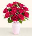 Şırnak internetten çiçek satışı  10 kirmizi gül cam yada mika vazo tanzim
