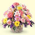 Şırnak hediye sevgilime hediye çiçek  sepet içerisinde gül ve mevsim