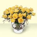 Şırnak ucuz çiçek gönder  11 adet sari gül cam yada mika vazo içinde