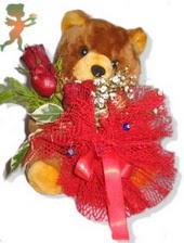 oyuncak ayi ve gül tanzim  Şırnak online çiçek gönderme sipariş