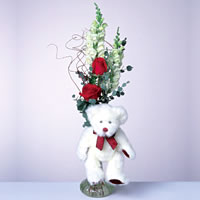 2 adet gül ve panda özel  Şırnak çiçekçiler
