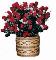 yapay kirmizi güller sepeti   Şırnak online çiçekçi , çiçek siparişi