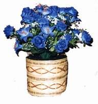 yapay mavi çiçek sepeti  Şırnak anneler günü çiçek yolla