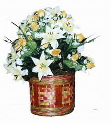 yapay karisik çiçek sepeti   Şırnak anneler günü çiçek yolla