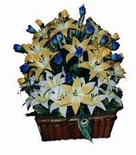 yapay karisik çiçek sepeti   Şırnak çiçek , çiçekçi , çiçekçilik