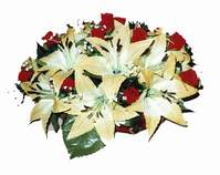 yapay karisik çiçek sepeti   Şırnak cicek , cicekci