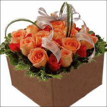 kare sandikta 11 gülllerden   Şırnak çiçekçiler