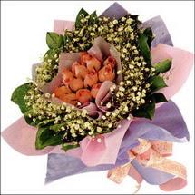 11  adet  gül ve   elyaflar   Şırnak çiçekçiler