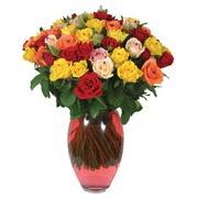 51 adet gül ve kaliteli vazo   Şırnak çiçekçi telefonları