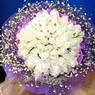 71 adet beyaz gül buketi   Şırnak çiçekçi mağazası