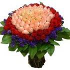 71 adet renkli gül buketi   Şırnak çiçek siparişi sitesi