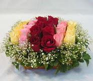 15 adet reprenkli gül sepeti   Şırnak çiçek satışı