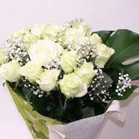 Şırnak internetten çiçek satışı  11 adet sade beyaz gül buketi