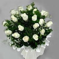 Şırnak internetten çiçek satışı  11 adet beyaz gül buketi ve bembeyaz amnbalaj