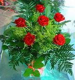 6 adet kirmizi gül buketi   Şırnak uluslararası çiçek gönderme