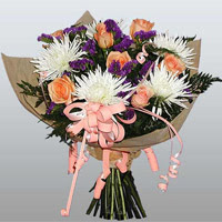 güller ve kir çiçekleri demeti   Şırnak online çiçek gönderme sipariş