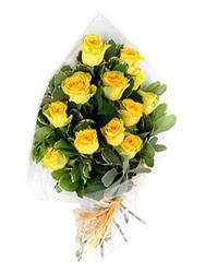 Şırnak çiçek yolla , çiçek gönder , çiçekçi   12 li sari gül buketi.