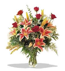 Şırnak güvenli kaliteli hızlı çiçek  Pembe Lilyum ve Gül