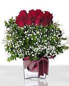 Şırnak çiçekçi mağazası  11 adet gül mika yada cam - anneler günü seçimi -