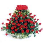 Şırnak online çiçekçi , çiçek siparişi  41 adet kirmizi gülden sepet tanzimi