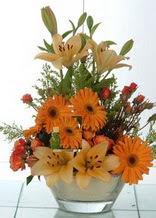 Şırnak güvenli kaliteli hızlı çiçek  cam yada mika vazo içinde karisik mevsim çiçekleri