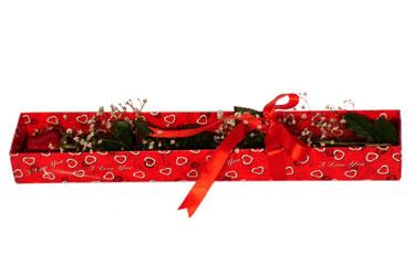 Şırnak ucuz çiçek gönder  kutu içerisinde 1 adet kirmizi gül