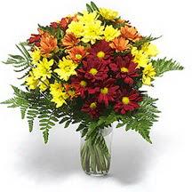 Şırnak internetten çiçek siparişi  Karisik çiçeklerden mevsim vazosu