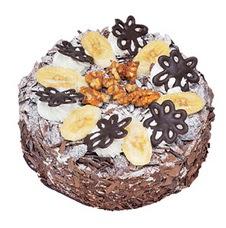 Muzlu çikolatali yas pasta 4 ile 6 kisilik   Şırnak hediye sevgilime hediye çiçek