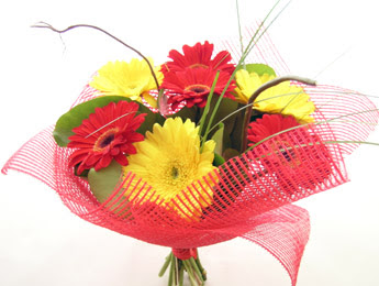 9 adet gerbera çiçeklerinden buket  Şırnak hediye çiçek yolla