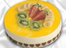 pasta gönderme 4 ile 6 kisilik yas pasta muzlu yaspasta  Şırnak yurtiçi ve yurtdışı çiçek siparişi