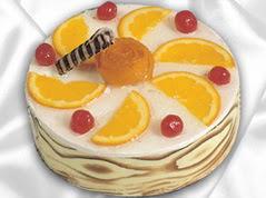 lezzetli pasta satisi 4 ile 6 kisilik yas pasta portakalli pasta  Şırnak çiçekçiler