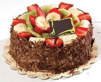pastaci firmasindan 4 ile 6 kisilik çikolata meyvali yaspasta  Şırnak internetten çiçek siparişi