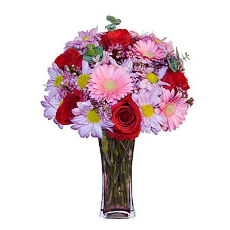 Görsel hediye karisik cam mevsim demeti  Şırnak çiçekçiler