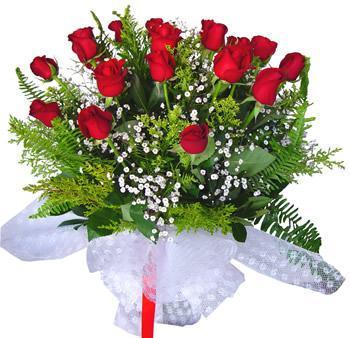 11 adet gösterisli kirmizi gül buketi  Şırnak çiçek siparişi vermek