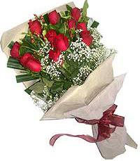 11 adet kirmizi güllerden özel buket  Şırnak cicek , cicekci