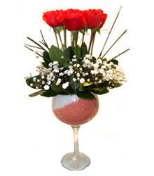 Şırnak online çiçek gönderme sipariş  cam kadeh içinde 7 adet kirmizi gül çiçek
