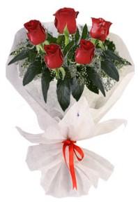 5 adet kirmizi gül buketi  Şırnak online çiçek gönderme sipariş