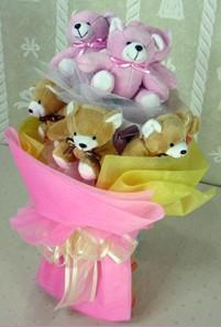 8 adet ayiciktan buket  Şırnak 14 şubat sevgililer günü çiçek