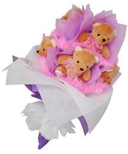 9 adet ayiciktan buket  Şırnak çiçek mağazası , çiçekçi adresleri