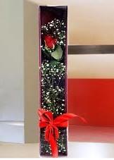 kutu içinde tek kirmizi gül  Şırnak kaliteli taze ve ucuz çiçekler