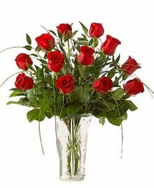 cam yada mika vazo içerisinde 9 kirmizi gül  Şırnak internetten çiçek siparişi