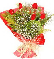 Şırnak çiçek servisi , çiçekçi adresleri  5 adet kirmizi gül buketi demeti