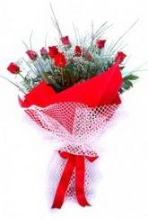 Şırnak çiçek gönderme  9 adet kirmizi gül buketi demeti