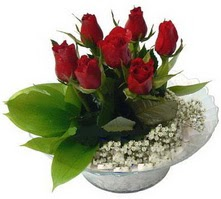 Şırnak çiçek siparişi vermek  cam yada mika içerisinde 5 adet kirmizi gül