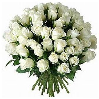 Şırnak güvenli kaliteli hızlı çiçek  33 adet beyaz gül buketi